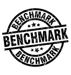 Benchmark round grunge black stamp vector