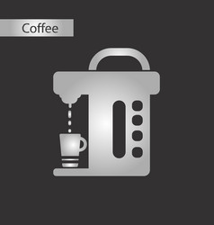 Black and white style electronic machine vector