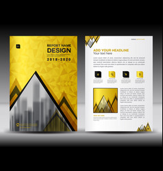 Business brochure flyer template in a4 size gold vector