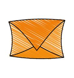 Color crayon stripe image cartoon envelope mail vector