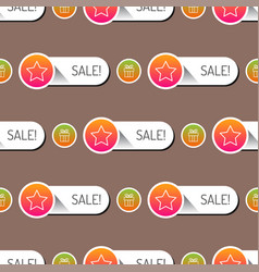 colorful website online shop web buttons seamless vector image