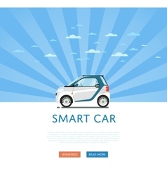 compact white smart car vector image