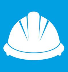 construction helmet icon white vector image