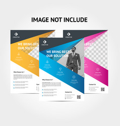 creative corporate business flyer background vector image