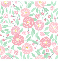 Cute small pastel peony flowers on white vector