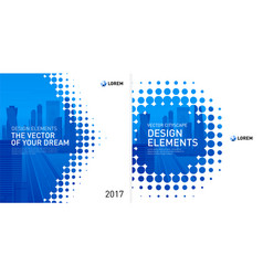 design element for corporate graphic layout vector image