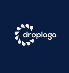 Drop logo vector