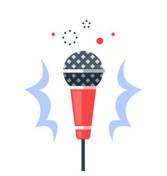dynamic microphone open mic comedy stand up vector image