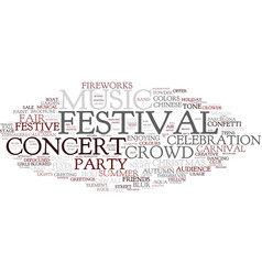 festival word cloud concept vector image