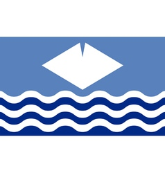 Flag of the Isle of Wight vector