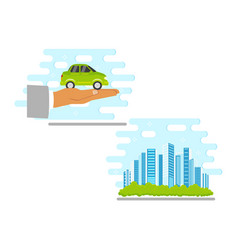 flat renewable alternative energy icon set vector image
