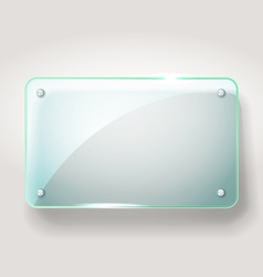 Glass advertising board vector image