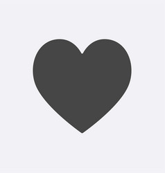 gray heart icon isolated on background modern fla vector image