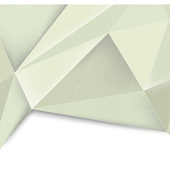 Green crystal structured divided background vector image