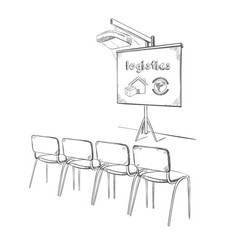 hand drawn business logistic presentation concept vector image