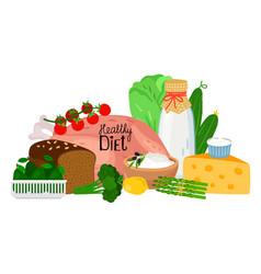 healthy diet concept vector image