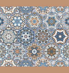 hexagon set template vector image