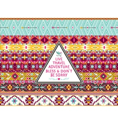 Hipster seamless aztec pattern with bird vector image vector image