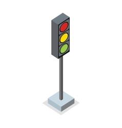 isometric traffic light icon vector image
