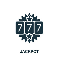 Jackpot icon simple element from casino vector