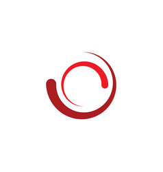 Loading icon red logo symbol element vector