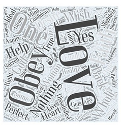 LOVE AND FAITH Word Cloud Concept vector