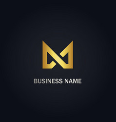 m initial shape business logo vector image