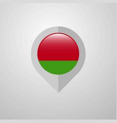 Map navigation pointer with belarus flag design vector