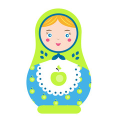 Matryoshka traditional russian nesting doll vector