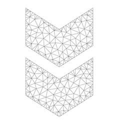 Mesh shift down icon vector