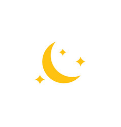 moon icon design template isolated vector image