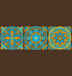 moroccan ceramic tile pattern vector image