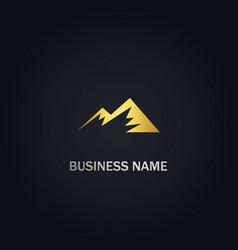 mountain triangle company logo vector image