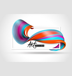 paint brush stroke horizontal poster vector image