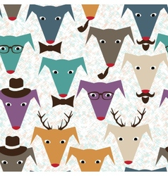 Pattern with dogs vector image