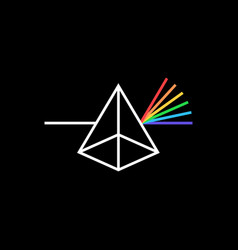 photon prism color logo icon vector image
