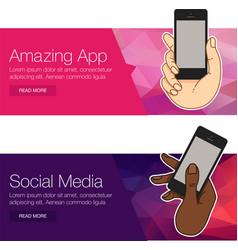 presentation template mobile screen vector image