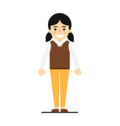 Pretty girl in sweater and pants vector