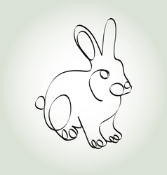 Rabbit in minimal line style vector image