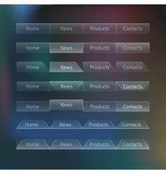 Really Transparent Web Design Menu Templates vector image