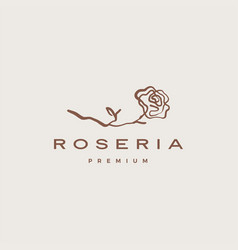 rose logo icon aesthetic sophisticated feminine vector image