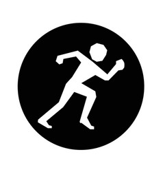 running sport icon design vector image