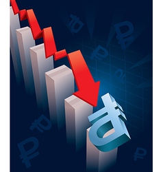Russian Ruble currency Crash vector image