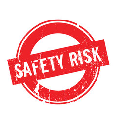 Safety risk rubber stamp vector