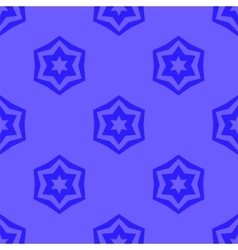 Seamless blue geometric david star background vector