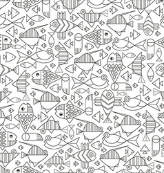 Seamless marine fish vector image