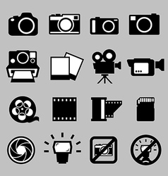 Set camera and video icons eps 10 vector