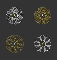 Set of Floral Monogram Design Templates vector image