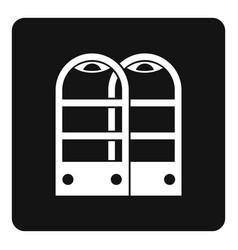 Shop security anti theft sensor gates icon simple vector