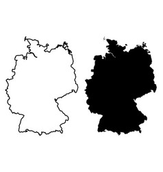 simple only sharp corners map germany drawing vector image